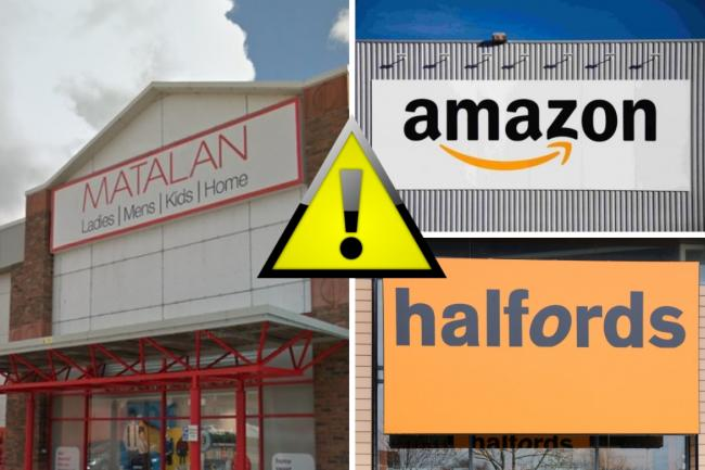 Amazon, Halfords and Matalan issue recalls and safety alerts on several products. Picture: Newsquest