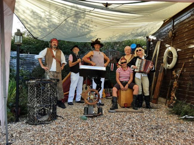 The Crew will headline the pirate-themed Quay Arts Folk Club this weekend