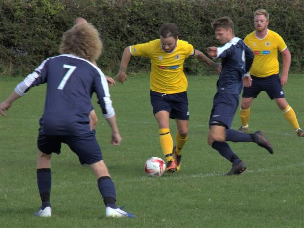 Isle of Wight County Press: Ventnor (in yellow) got their season off to a bad start, losing 3-09 away at Bembridge on Saturday.
