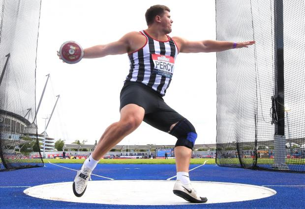 Isle of Wight County Press: Discus British Championship title holder, Nick Percy, of Bonchurch, is an Olympic hopeful and an inspiration to lots of aspiring young discus throwers from the Island.