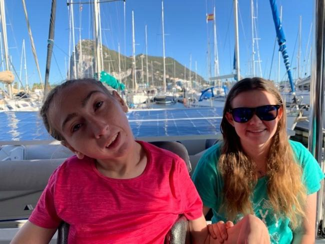Natasha Lambert (left) dreamed of sailing her own boat from a young age