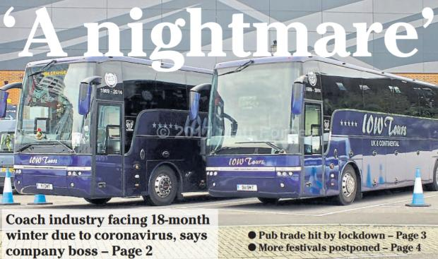 Isle of Wight County Press: The May 22 edition of the County Press looked at the challenges the coach industry faced in light of Covid