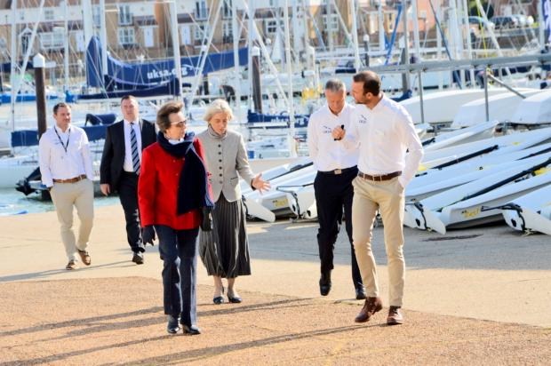 Isle of Wight County Press: The Princess Royal in conversation with UKSA chief executive Ben Willows