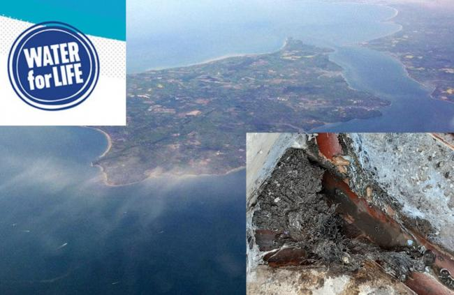 Southern Water visited the Isle of Wight to check on sewer blockages.