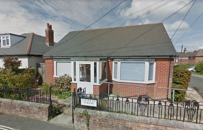 Yarmouth surgery. Picture from Google Street View.