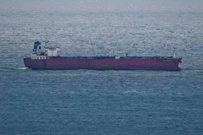 The Nave Andromeda off the coast of the IW. Photo credit: Graham Stretch.