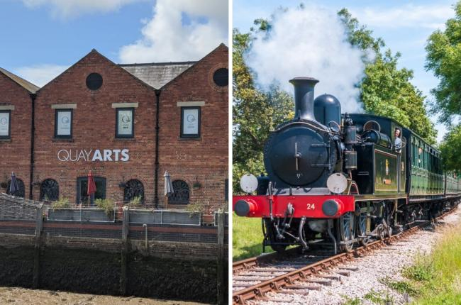 Quay Arts is teaming up with IW Steam Railway to celebrate the attraction's 50th anniversary at Havenstreet
