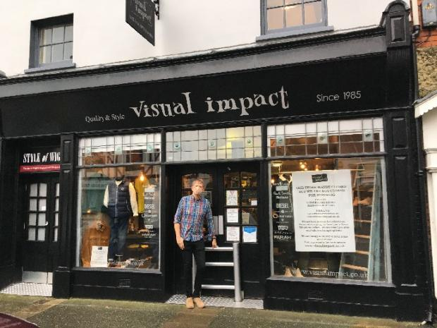 Isle of Wight County Press: Steve Robson outside Visual Impact