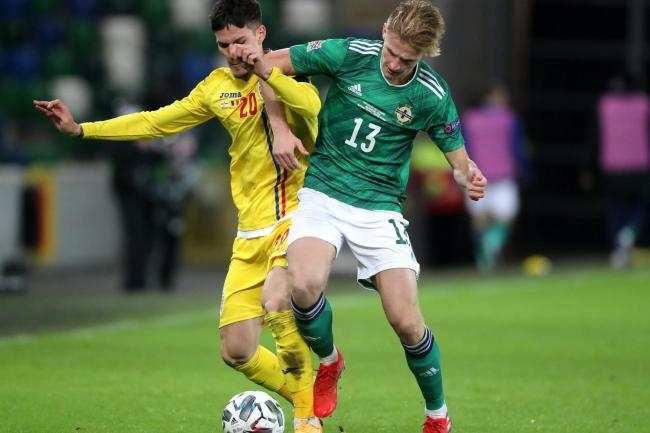 Ali McCann, right, has impressed in his first two appearances for Northern Ireland