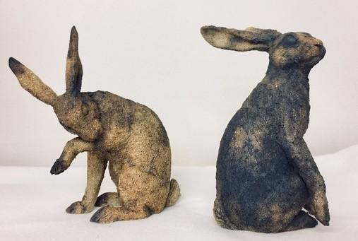Hares created by Juliet Collins