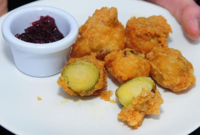 The battered sprouts have proven popular at Corries Cabin over the last few Christmas periods