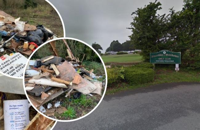 Sandown and Shaklin golf course posted pictures of the apparent flytipping incident