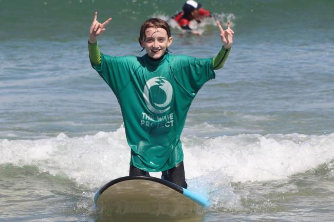 The Wave Project is offering free beach sessions  to children affected by the pandemic.