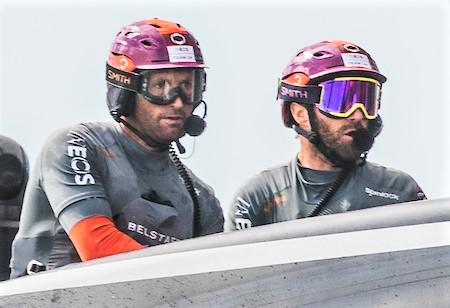 Isle of Wight County Press: Sir Ben Ainslie and fellow Ineos Team UK crewman, Island Leigh McMillan.