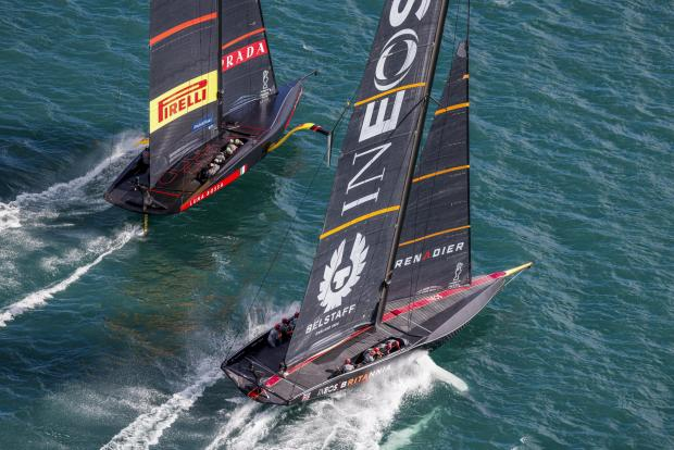 Isle of Wight County Press: Ineos Team UK in action against Luna Rossa.