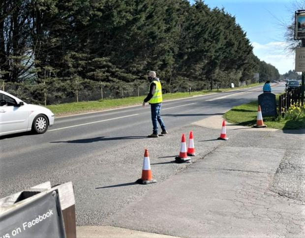 Isle of Wight County Press: Marshalling one of the Fighting Cocks previous drive throughs.