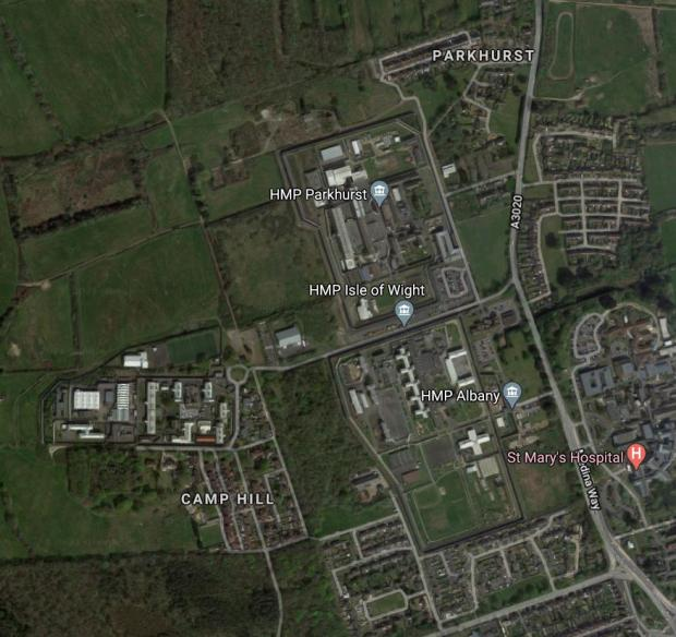 Isle of Wight County Press: The prison estates. (Image: Google Maps)