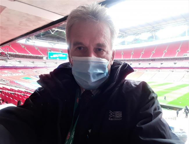 Former County Press features editor, Bill Bradshaw, inside deserted Wembley Stadium last weekend.