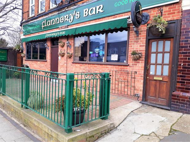 Isle of Wight County Press: Flannery's Bar, which was packed with Pompey fans prior to the EFL final in 2019.