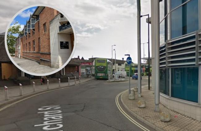 Main picture, Newport Bus Station, on Google Maps. Inset, the IW Law Courts.