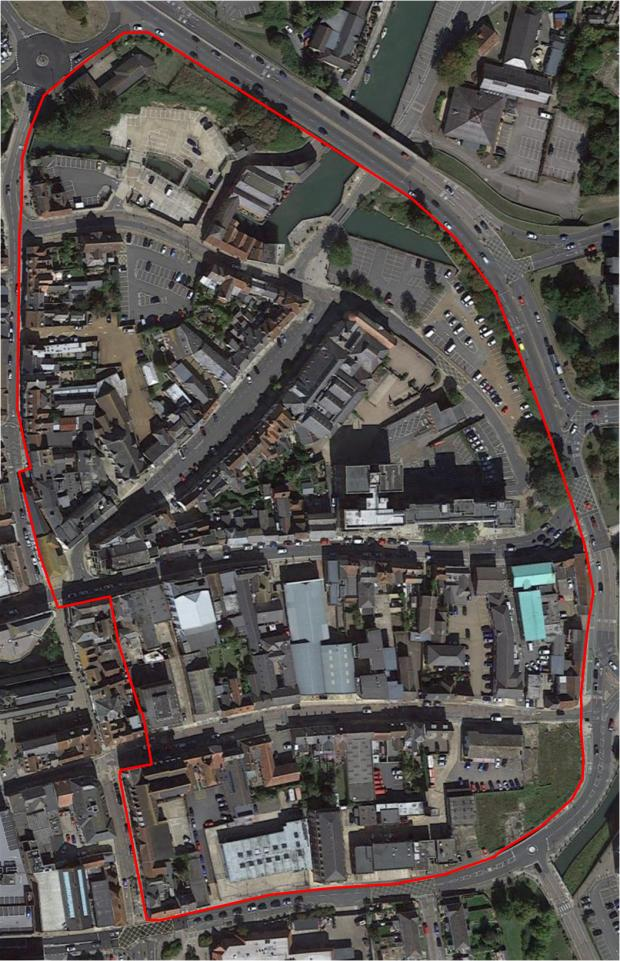 Isle of Wight County Press: The area of Newport targeted for housing regeneration.