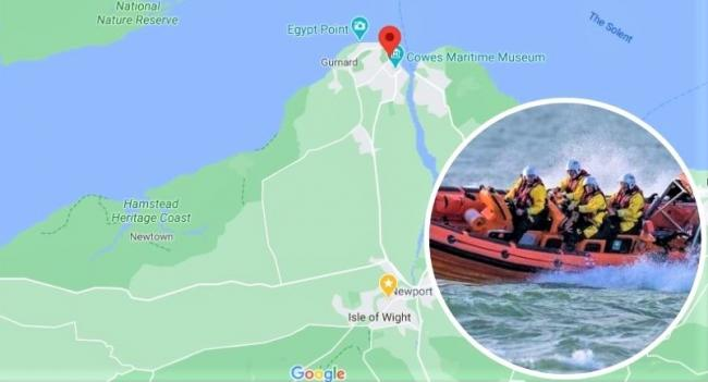 Cowes RNLI lifeboat were out on The Solent doing a sweep of the Thorness area after a paddleboard was discovered floating in the sea.  Photo: RNLI