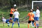 Shanklin (wearing orange) in action against West Wight on Saturday.