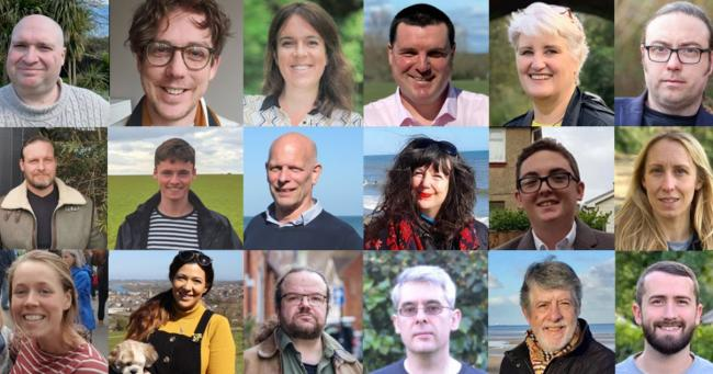 The Isle of Wight Green Party candidates standing on May 6.