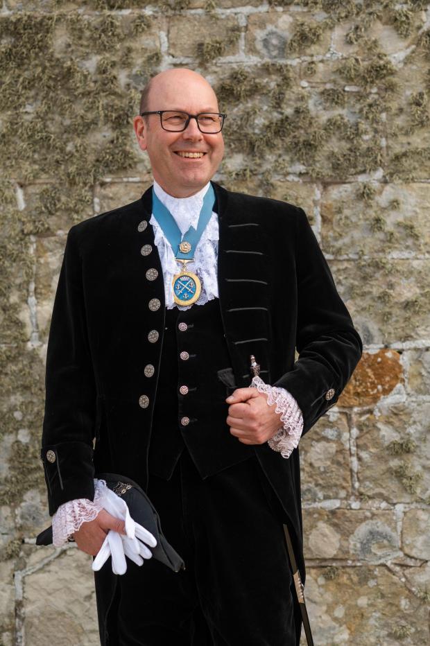 Isle of Wight County Press: James Attrill in his ceremonial uniform.