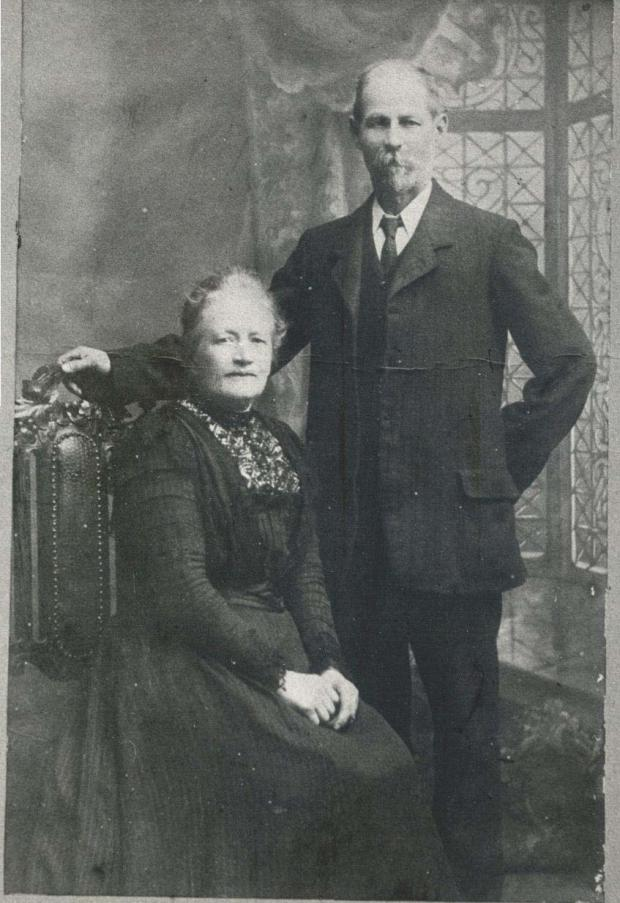 Isle of Wight County Press: Peter's grandparents Harriette and William Stark.