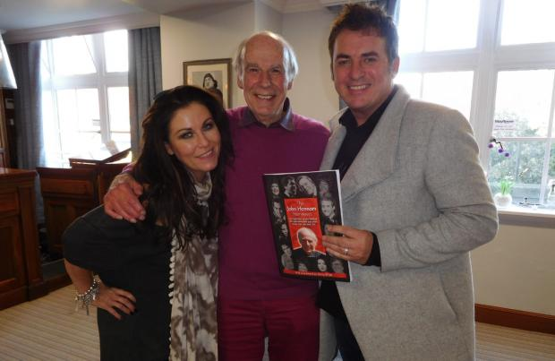 Isle of Wight County Press: With Eastenders stars Jesse Wallace and Shane Richie.
