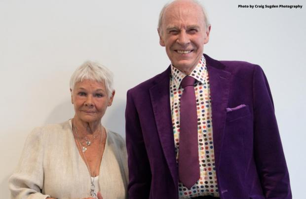Isle of Wight County Press: With Dame Judi Dench (photo by Craig Sugden).