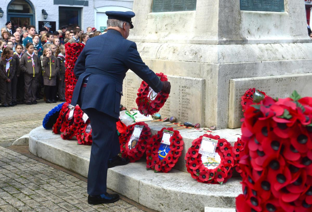 Remembrance Day at St Thomas's Square, Newport.