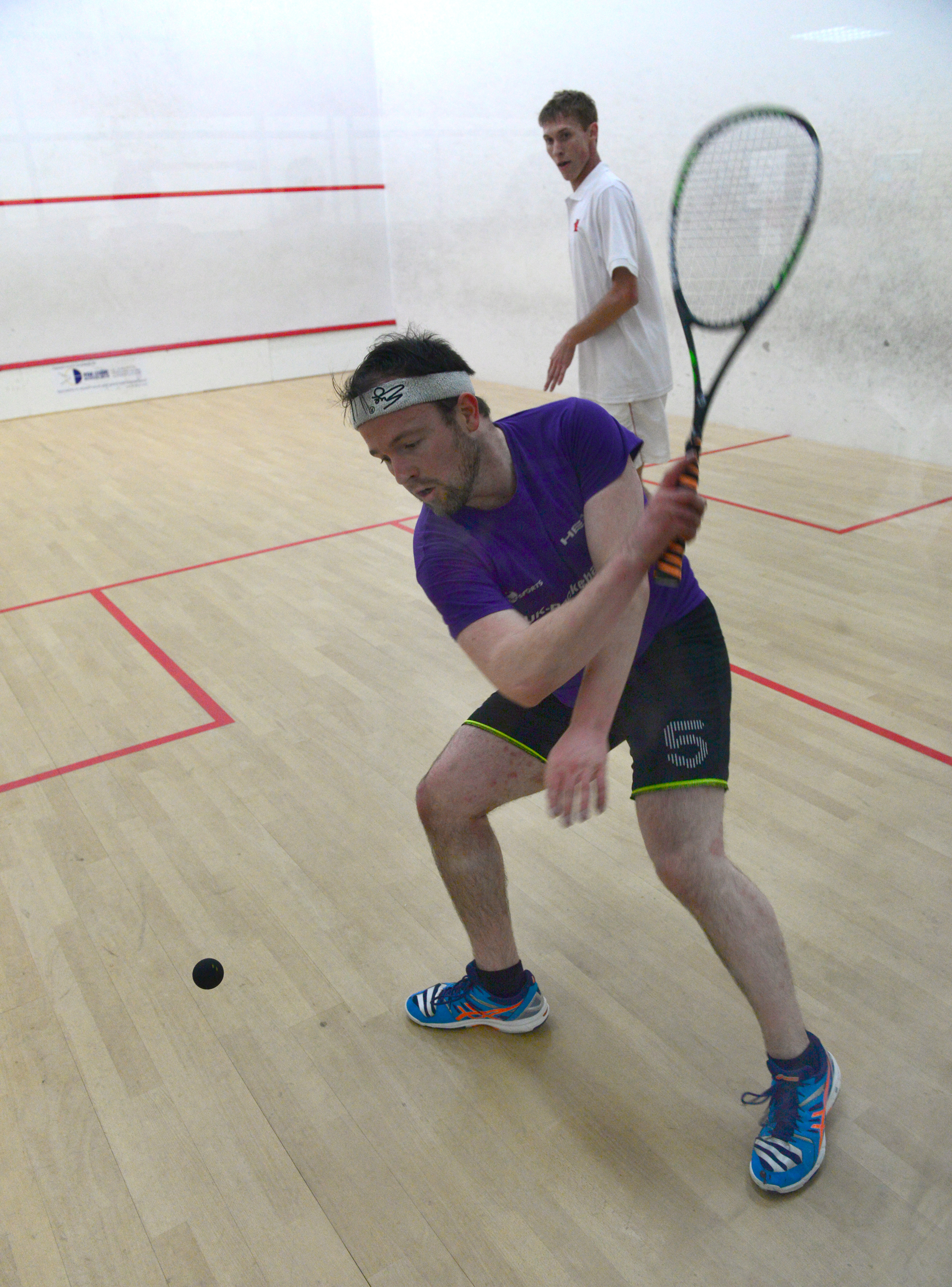 Callum Arnott (in purple) won his two games convincingly for the IW.  FILE