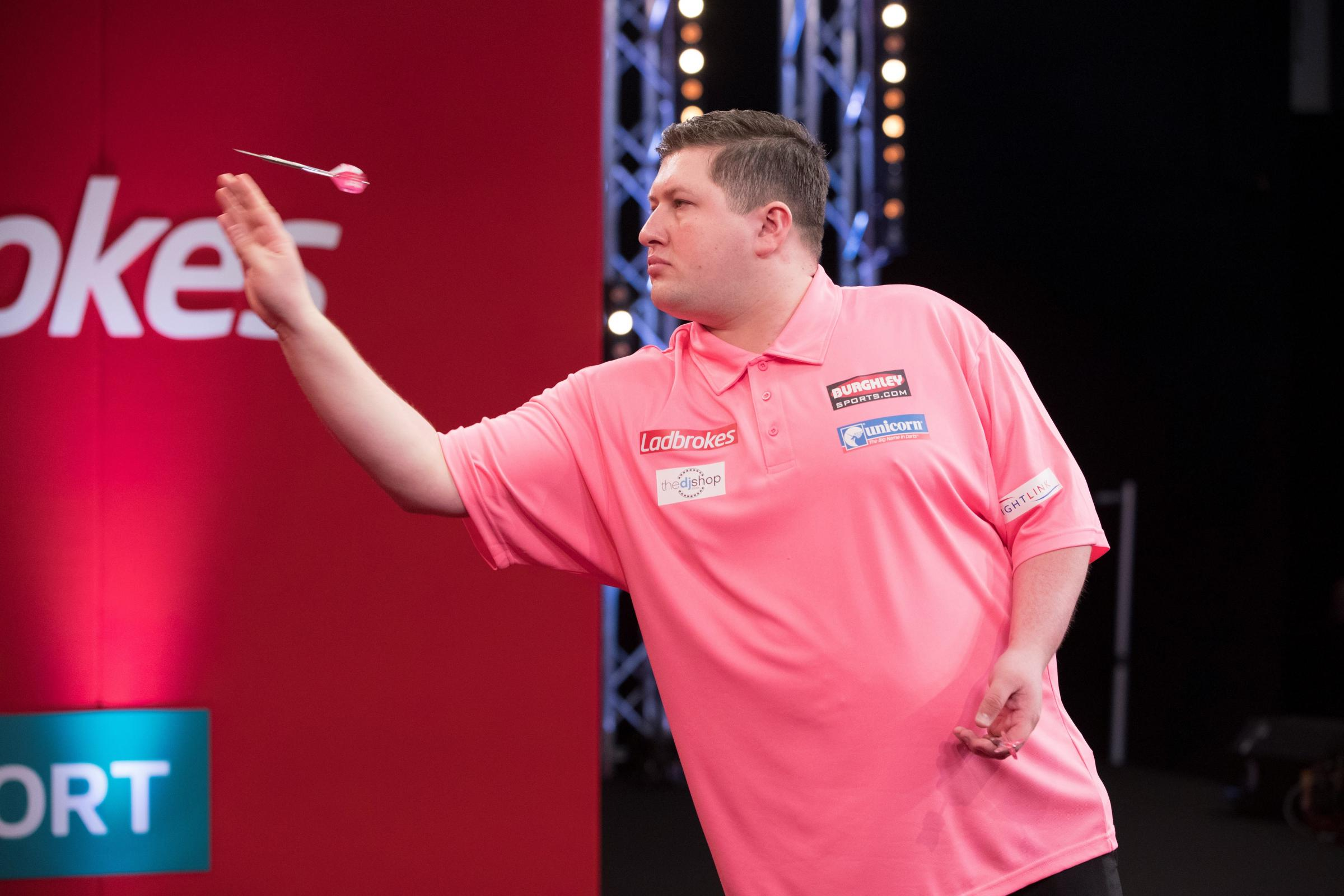 Keegan Brown, who will be gunning for world number one Michael van Gerwen in the 1Leisure Professional Darts Masters, which will take place at Newport's Medina Theatre next Friday. Photos: Lawrence Lustig/PDC
