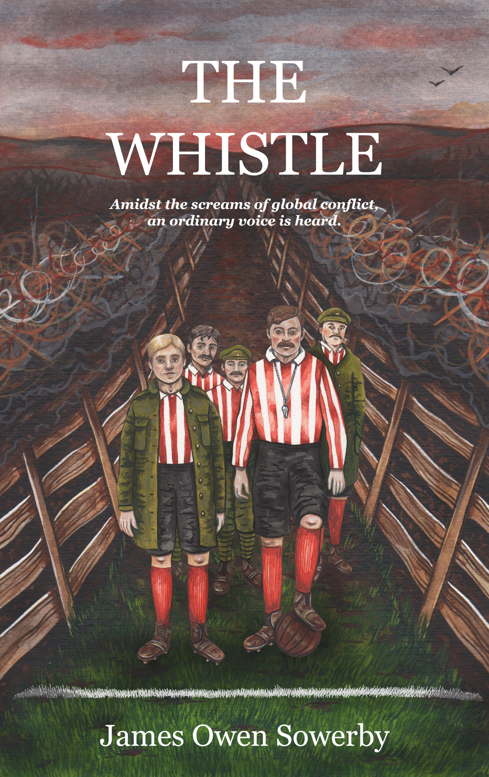 Cover of The Whistle by James Owen Sowerby. Illustration by Lilly Louise Allen.