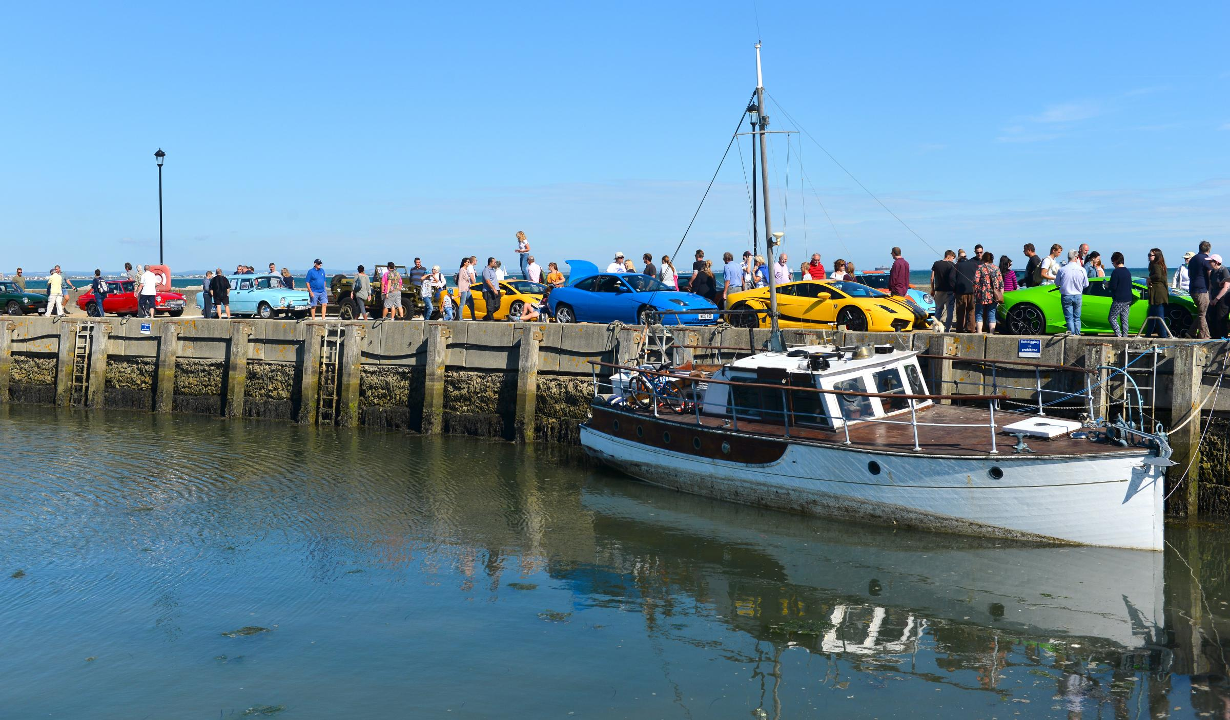 Ryde's town council could buy the town's harbour - scene of a recent classic car show
