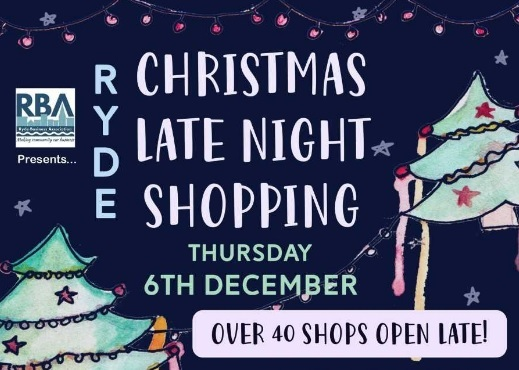 Ryde is offering late night shopping on Thursday, December 6.