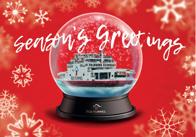 Red Funnel will be crossing the Solent on Christmas Day.