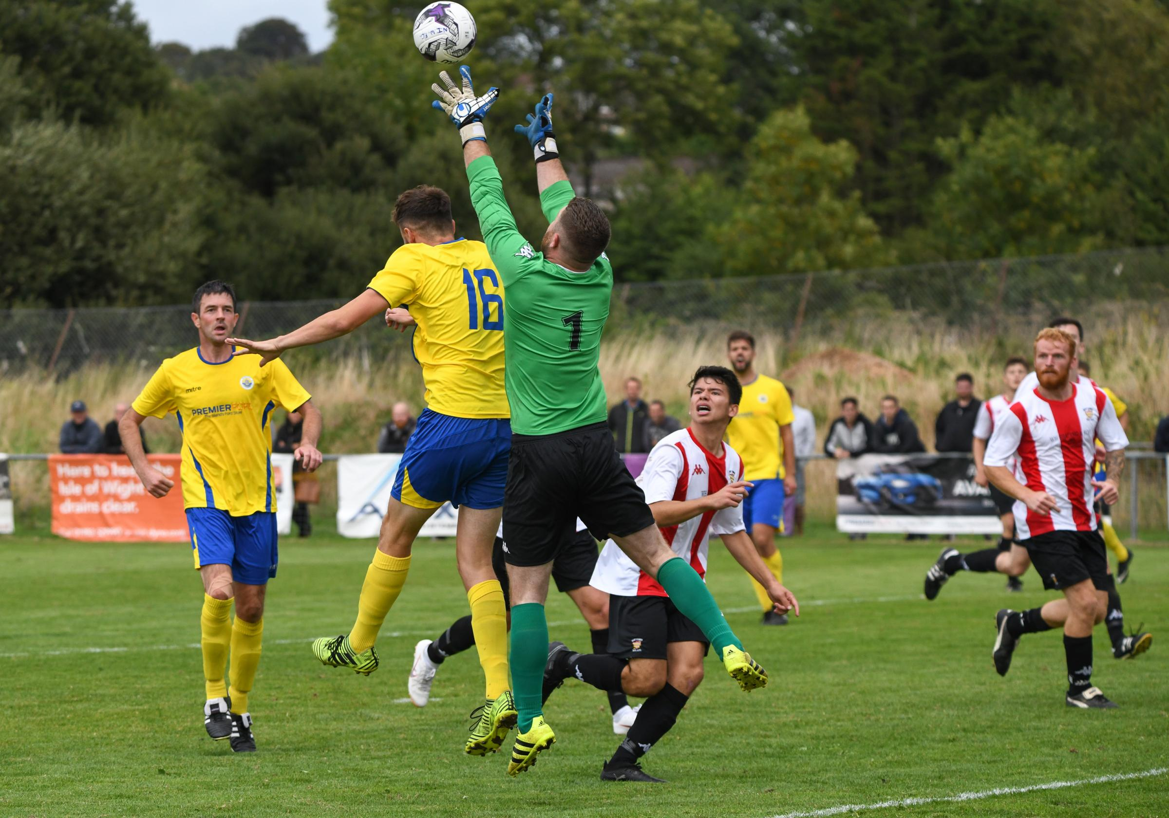Newport were the better side in the Isle of Wight derby against East Cowes Vics this afternoon (Saturday).  FILE
