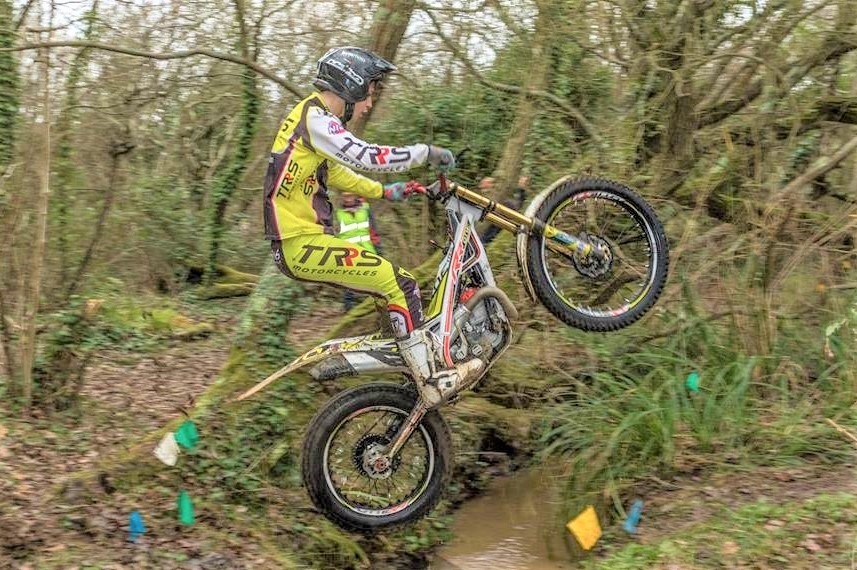 Elite trials rider Chris Stay did not drop a mark in the New Year Shield held at Sweetwater Brook, Calbourne.