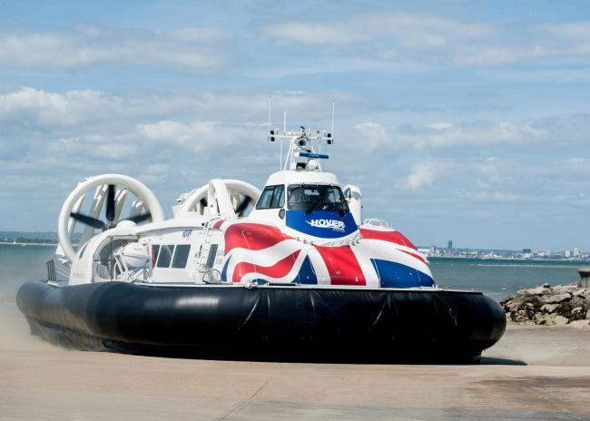Hovertravel services suspended due to windy conditions