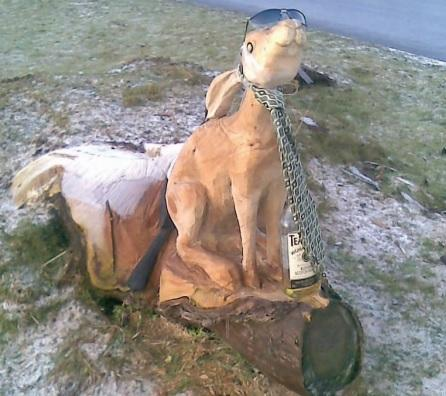 Ten years ago: The hare outside Arreton Barns was given a makeover when he was given a tie and a pair of sunglasses and an empty bottle of whisky was placed between its front paws.