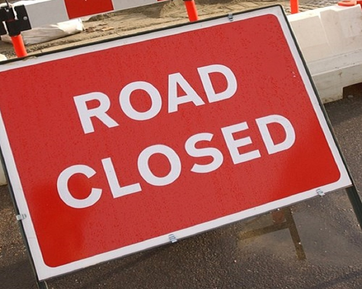 Carisbrooke Road is due to close this evening (Monday).