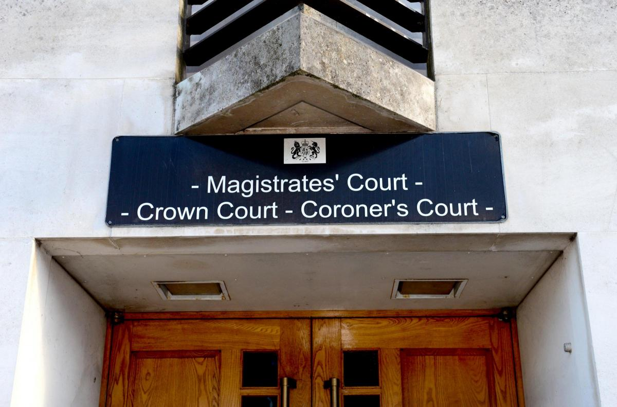 The Isle of Wight law courts at Newport.