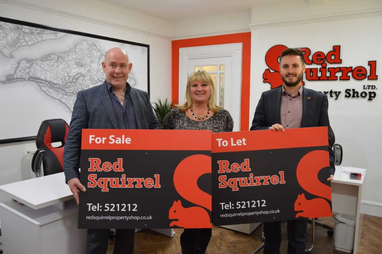 Red Squirrel Property Shop is celebrating winning another award. From left, director Stuart Punter, director Eileen Punter, and business manager Charlie Panayi.