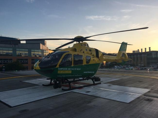 Picture courtesy of Hampshire and Isle of Wight Air Ambulance.