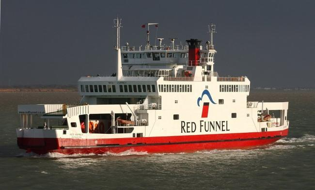 The incident happened on the Red Funnel car ferry service between East Cowes and Southampton.