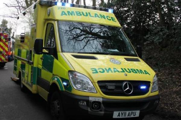 Crash on Briddlesford Road ­— injured motorcyclist taken to hospital
