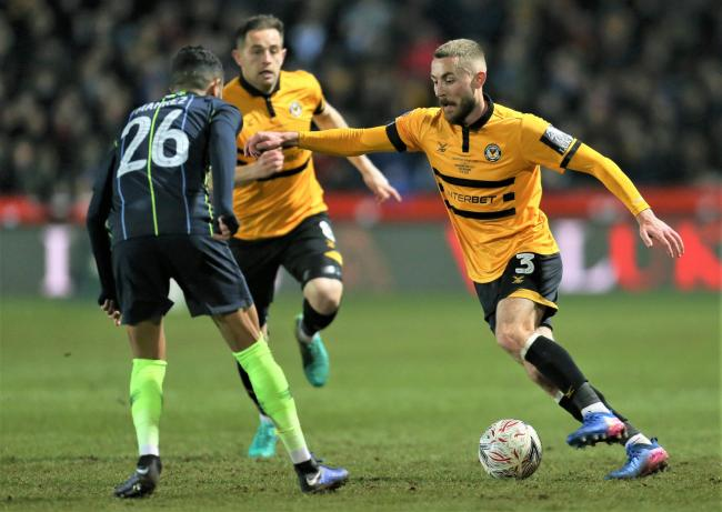 Dan Butler, in action against Manchester City in the FA Cup last season.
